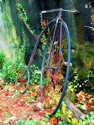 Retro Photograph - Penny Farthing High Wheel Bicycler  by John Straton
