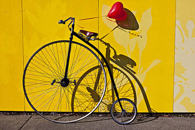 Red Heart Photograph - Penny Farthing Love by Garry Gay