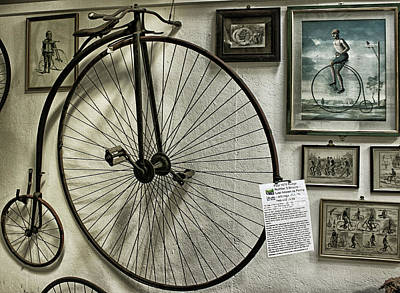 Engraved Art Photograph - Penny Farthing by Martin Newman