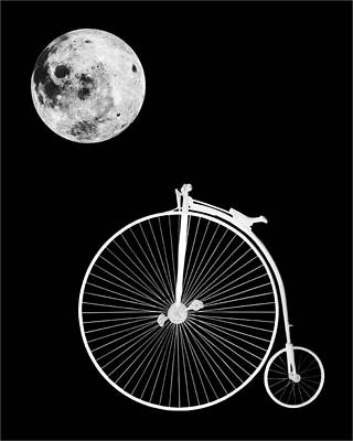 Photograph - Penny Farthing Moonlight B by Gill Billington