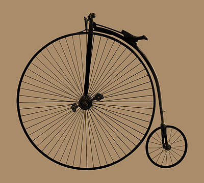 Photograph - Penny Farthing Sepia by Gill Billington