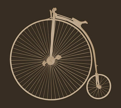 Photograph - Penny Farthing Sepia On Brown by Gill Billington