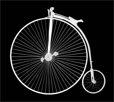 Photograph - Penny Farthing White B by Gill Billington