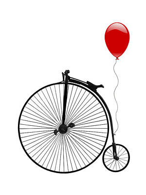 Photograph - Penny Farthing With Red Balloon by Gill Billington