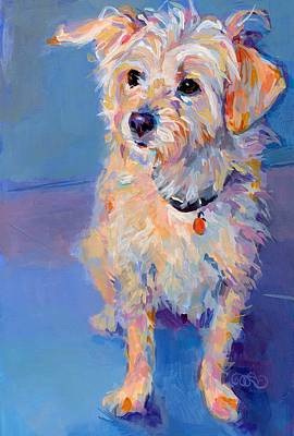 Puppies Painting - Penny Peach by Kimberly Santini