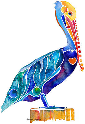 Painting - Penny Pelican by Jo Lynch