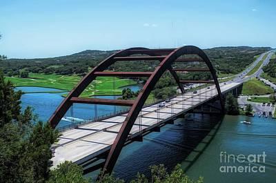 360 Wall Art - Photograph - Pennybacker Bridge Austin Texas by Luther Fine Art