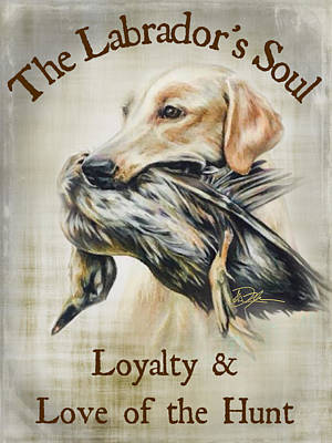Chocolate Labrador Retriever Mixed Media - Penny's Bird by Danielle Rosalie Pellicci
