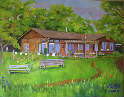 Painting - Penny's House Of Light by Mary Hollinger