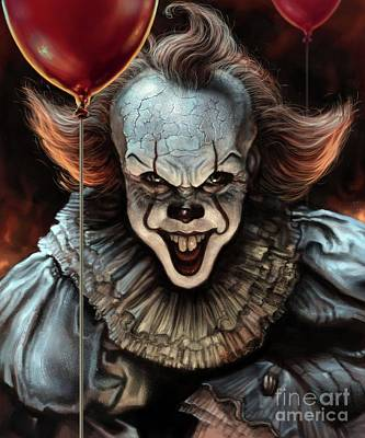 Digital Art - Pennywise by Andre Koekemoer