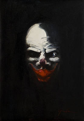 Evil Clown Painting - Pennywise by Greg Brauch