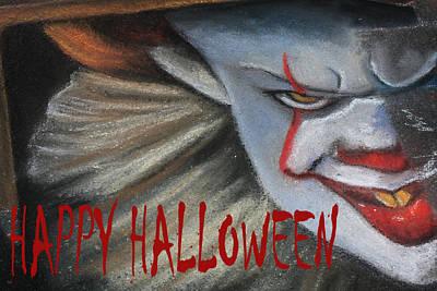 Pennywise Halloween Card Art Print