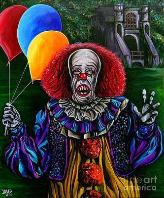 Tim Curry Painting - Pennywise It by Jose Mendez