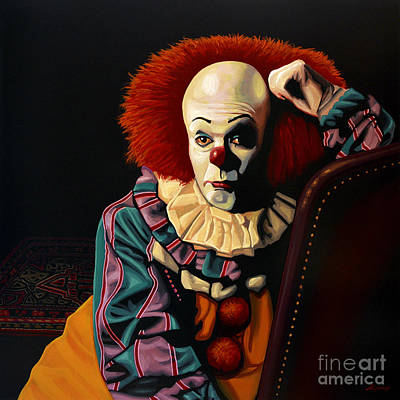 Character Portraits Painting - Pennywise by Paul Meijering