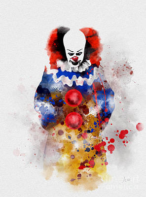 Mixed Media - Pennywise by Rebecca Jenkins