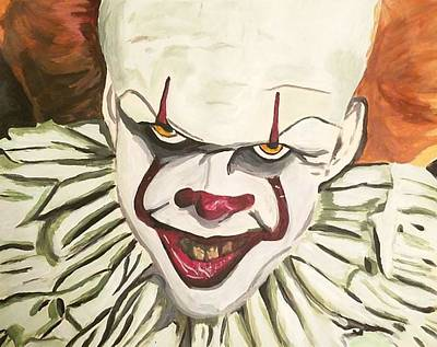 Tim Curry Painting - Pennywise The Dancing Clown by Lisa Krassow