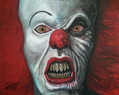Evil Clown Painting - Pennywise by Tom Carlton