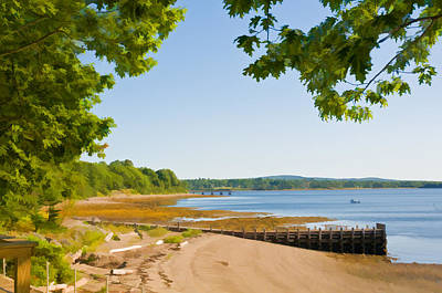 Photograph - Penobscot Bay Shoreline by Ginger Wakem