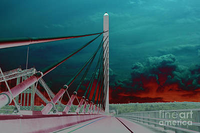 Penobscot Narrows Bridge In Solar  Art Print by Kay Brewer