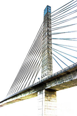 Photograph - Penobscot Narrows Bridge And Observatory by Anita Pollak