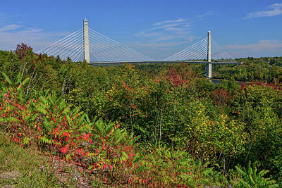 Photograph - Penobscot Narrows Bridge In Maine by Marilyn Burton