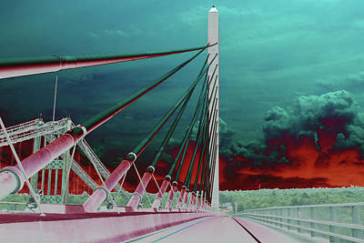 Photograph - Penobscot Narrows Bridge In Solar  by Kay Brewer