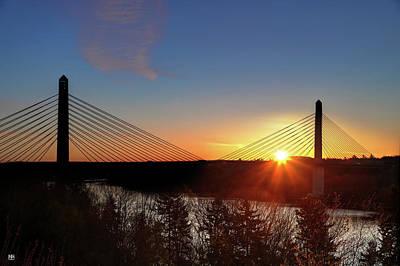 Photograph - Penobscot Narrows Sunrise by John Meader
