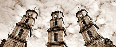 Photograph - Penryn Clock Tower In Sepia by Terri Waters