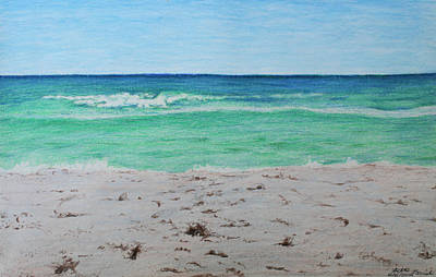 Beach Landscape Drawing - Pensacola Beach by Beth Parrish
