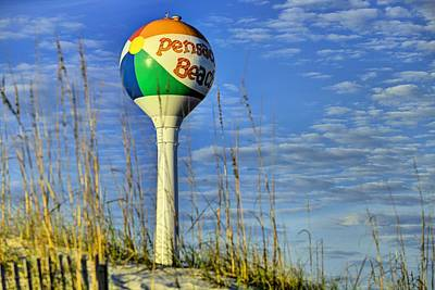 Watertower Photograph - Pensacola Beach Days by JC Findley