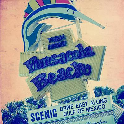 Swordfish Mixed Media - Pensacola Beach Mexico by Brandi Fitzgerald
