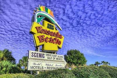 Photograph - Pensacola Beach Sign by JC Findley