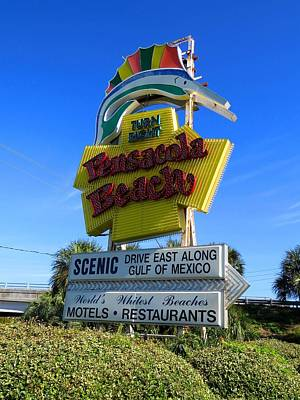 Photograph - Pensacola Beach Sign by Keith Stokes