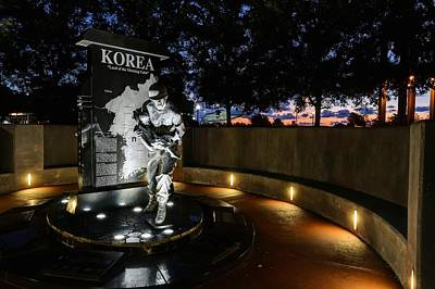 Korean War Memorial Photograph - Pensacola Korean War Memorila by JC Findley