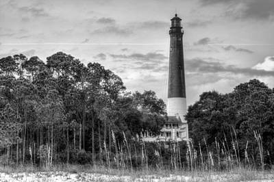 Pensacola Lighthouse Black And White Art Print