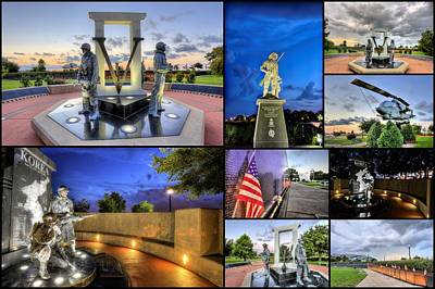 Vietnam Veterans Memorial Wall Photograph - Pensacola Veterans Park by JC Findley
