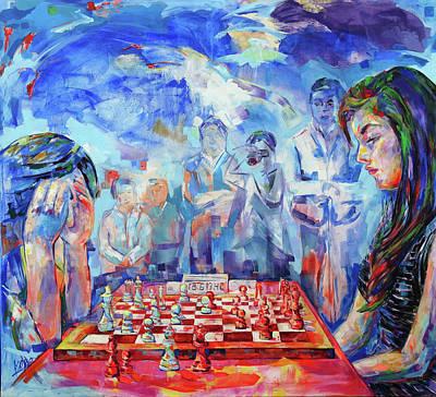 Painting - Pensamiento Flotante - Floating Mind by Koro Arandia
