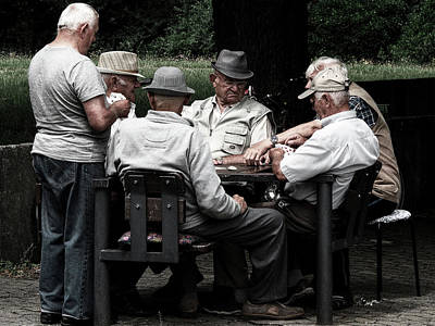 Retiree Photograph - Pensioners Card Game by Mountain Dreams