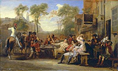 The Battle Of Waterloo Painting - Pensioners Receiving The Gazette by MotionAge Designs