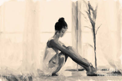Painting - Pensive Ballerina by Chris Armytage