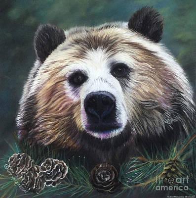 Pastel - Pensive Bear by Michaeline McDonald