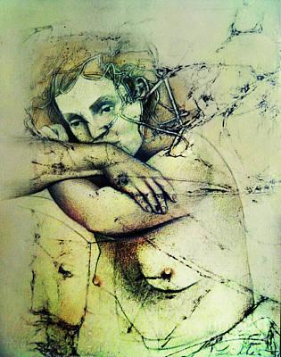 Wall Art - Drawing - Pensive by Carole Lindberg
