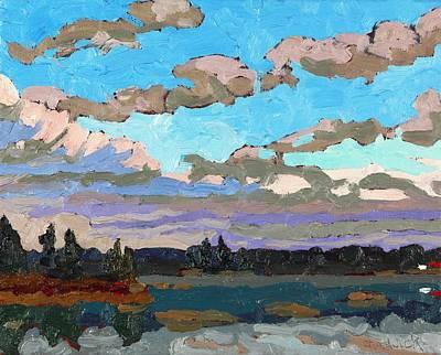 Pensive Clouds Art Print