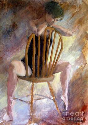 Pensive Dancer Print by Ann Radley