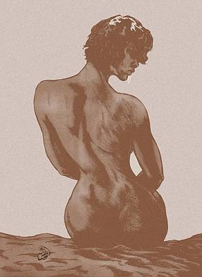 Suggestive Drawing - Pensive Dark by Eric Armstrong