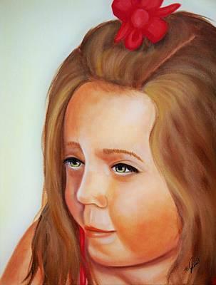 Pensive Lass Print by Joni McPherson
