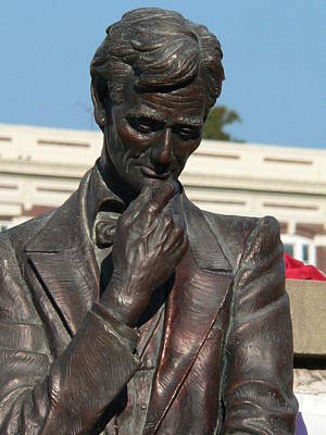 Photograph - Pensive Lincoln by David Bearden
