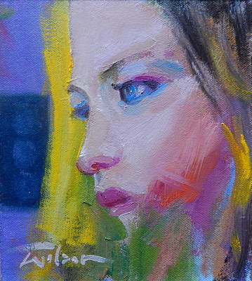 Painting - Pensive by Ron Wilson