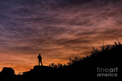 Photograph - Pensive Sunset by Steve Purnell