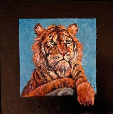 Painting - Pensive Tiger by Barbara O'Toole